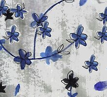 Stylish vintage Chinoiserie floral print by bardenne