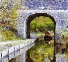 Canal boat near tunnel  by sc-images