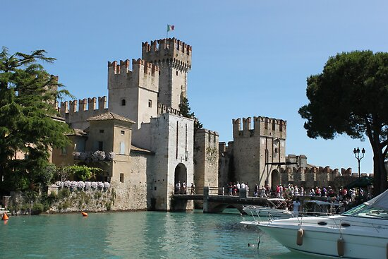 The Scaliger Castle, Sirmione by Elena Skvortsova