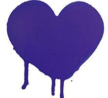 Blue Heart Graffiti by TDowArt