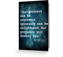 Inexperience Can Be Overcome Greeting Card