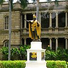 "King Kamahameha Statue, at Hawaii Supreme Court Building, Honolulu, Hawaii  by Edmond J. [""Skip""] O'Neill"