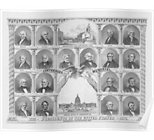 Presidents Of The United States 1776 - 1876  Poster