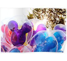Mickey Mouse Balloons Poster