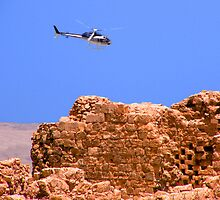 Above Masada Israel by BrianJoseph