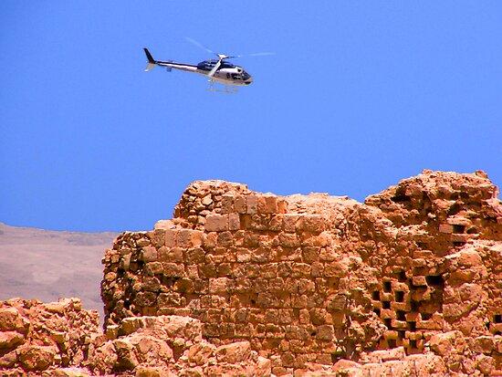 Above Masada Israel by BrianJoseph