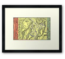 imagening shadows Framed Print