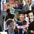 Benedict Cumberbatch collage by Aryanna Bingham