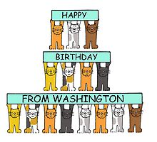 Cats Happy Birthday from Washington. by KateTaylor