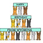 Cats Happy Birthday from Wyoming. by KateTaylor