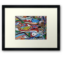 Spin Art 'Psychedelic Smooching Nudes'  Framed Print