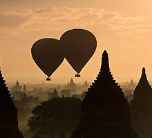 Balloon Over Bagan by jasonksleung