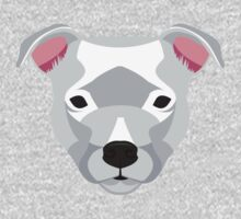 White Staffordshire Bull Terrier Kids Clothes