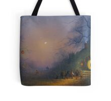 The Pumpkin Seller ( A Hobbits Halloween ). Tote Bag