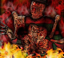 Freddy Krueger art by American Artist