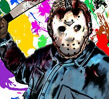 jason, jason vorhees,, art, horror, illustration drawing, friday the 13th by American Artist