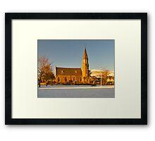 RHYNIE - NOTH PARISH CHURCH WITH SNOW Framed Print
