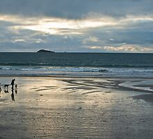 Walkers at Low Tide by Judi Lion