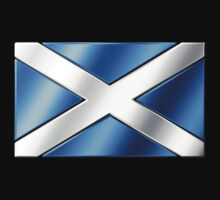 Scottish Flag - Scotland - Metallic by graphix