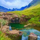 Fairy Pools of Skye Watercolour by Chris Thaxter