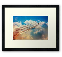Red Arrows Smoke The Skies Framed Print