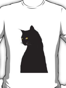 Halloween Special! - Orange eyed witch's cat T-Shirt