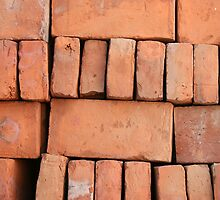 Stacked Adobe Bricks by rhamm