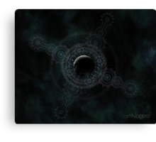 Visionary Psychedelic Moon Canvas Print