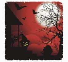Halloween on Bloody Moonlight Nightmare Kids Clothes
