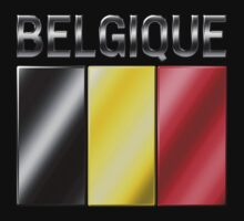 Belgique - Belgian Flag & Text - Metallic by graphix