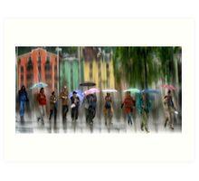 Innsbruck Street Corner Art Print