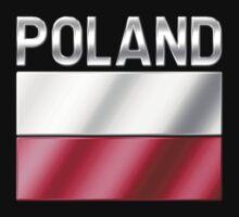 Poland - Polish Flag & Text - Metallic by graphix