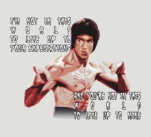 Bruce Lee. Expectations Quote. by BungleThreads
