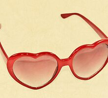 Fabulous Heart Sunglasses Vintage Cream by CptnLucky