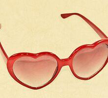 Fabulous Heart Sunglasses Vintage Cream by CptnLucky