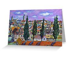 Landscape from Sibiu, Transylvania Greeting Card