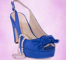 Fabulous Blue Shoe on Sweet Background by CptnLucky