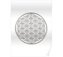 Flower of life - Silver, healing & energizing Poster