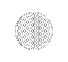 Flower of life, sacred geometry, energizing & purification Photographic Print