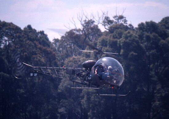 Bell 47 Helicopter @  Nowra, Australia 1997 by muz2142