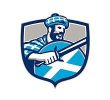Highlander Scotsman Sword Shield Retro by patrimonio