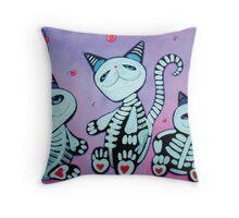 Kitty Cat Cupcakes Throw Pillow