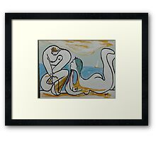 'On the Beach' inspired by Pablo Picasso Framed Print