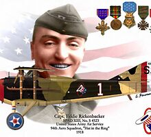 "Captain Eddie Rickenbacker ""Hat in the Ring"" by A. Hermann"
