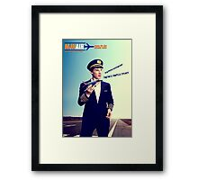 Captain Crieff and Toy Plane Framed Print
