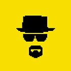 Heisenberg Breaking Bad Pixels by Ollie Chanter