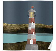 Nighttime Lighthouse Poster