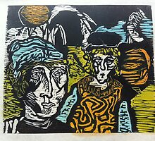 Rahkel Biller-Klien woodcut collection 1967 to 1970 by Derek Lowe