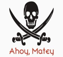 Redbubble Ahoy, Matey Tee (black/orange) by raineOn