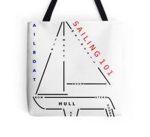Sailing 101 - The sailboat Tote Bag